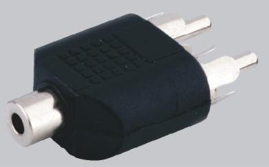 adapter 2 x cinch auf klinkenkupplung 3 5 mm. Black Bedroom Furniture Sets. Home Design Ideas