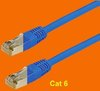 Patch-Kabel Cat 6, blau, 0,5 m
