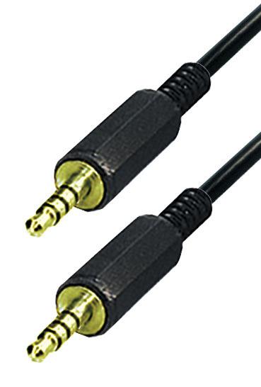 Klinken-Verbindungskabel Stecker Stecker vergoldet 1,0 Meter